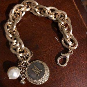 Jewelry - GOLDTONE BOUTIQUE INITIAL BRACELET